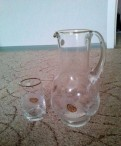 Кувшин и набор стаканов bohemia