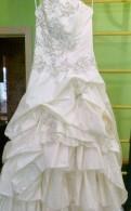 Кожаные штаны кальцедония, свадебное счастливое платье. 44-46 размер