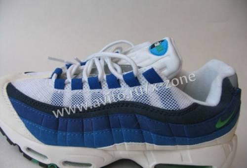 e95ef401 Кроссовки Nike Air Max 95 Белые Сине-Черн. Полос38, работаем без выходных