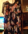 Новое эффектное шифоновое платье в пол 58 размера, платье ева шафран в клетку вискоза