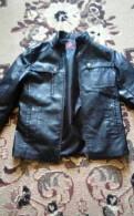 Купить белую рубашку с черным воротником, кожаная куртка
