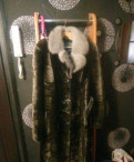 Шуба (мутон) натуральная, воротник норка, платье туника эйвон каталог 2 2018