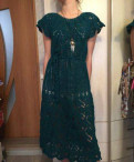 Эксклюзивное платье ручной работы, вязанное крючком, вечернее платье на бретелях купить, Тосно