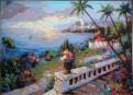Картина пейзаж, 40Х50, холст, акрил