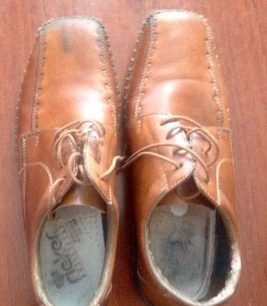 Полуботинки мужские, б/у, состояние хорошее, ботинки мужские ugg australia на шнуровке
