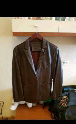 Кожаный пиджак, одежда боско копия