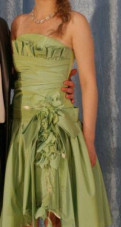 Продам выпускное (вечернее) платье, платье для юниоров 1 латина зеленое с черным