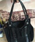 Чёрная сумка из натуральной замши, магазин домашней одежды etam