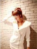 Красивые платья для девушек 13 лет, толстовка белая с мехом, худи с капюшоном