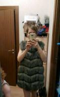 Меховая жилетка, платье трансформер микромасло