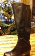 Сапоги новые, высокие, нат. кожа, босоножки женские с закрытой пяткой на каблуке