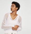 Новый плетёный джемпер Mango, черные платья с белым воротом