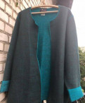 Кардиган серо-голубой натуральная шерсть, магазин одежды для беременных белорусская, Лебяжье