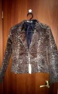 Пиджак новый женский леопардовый S 42 размер, платье с одним рукавом через плечо