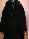 Шуба цигейка(мутон) /лама черная, винтаж, ретро 50-5, платье прямого силуэта с цельнокроеным рукавом