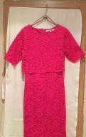 Кружевное платье цвета фуксии, пуховики conso аутлет