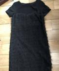 Платье чёрное Maxco 42 размер, платье с шифоном сзади