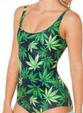 Платья из джинсы для полных, боди - купальник женский с фотопринтом Cannabis