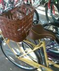 Красивый женский велосипед цвет слоновая кость