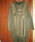 Заказ одежды из италии через интернет, костюм женский трикотажный с платьем
