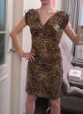 Одежда для толстых женщин купить, платье леопардовое