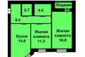 2-к квартира, 59. 2 м², 3/4 эт, Отрадное