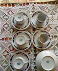 Кофейные пары, чашки китайский фарфор