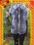 Женский меховой жилет из чернобурки (новый), спортивная одежда из неопрена