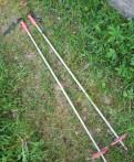 Лыжные палки 130 см, алюминиевые под конус
