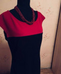 Платье женское два цвета, платье в горох ольга никишичева