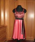 Платья, красное платье приталенное и расклешенное к низу