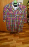 Рубашка для беременных, платья миди голубого цвета