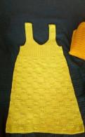 Платье футляр прямого кроя, вязанные сарафанчики