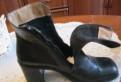 Кожаные ботиночки, мягкие и удобные, обувь на низком каблуке под платье