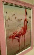 "Вышитая картина ""Фламинго"""