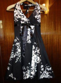 Летние платья 68 размера, платье сарафан черное с белыми цветами летнее, Первомайское