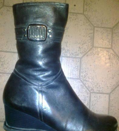 35c5598f8 Сапоги женские зимние натуральная кожа и мех, купить обувь экко биом ...