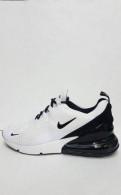 Кроссовки Nike airmax #270 white/black, clarks ботинки modur hi black leather
