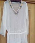 Одежда ruban купить, блузка /туника белая прозрачная