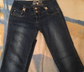 Черное платье в прозрачную полоску, джинсы женские