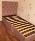 Детская кровать новая с мягким изголовьем