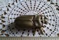 Старинный жук-шкатулка, латунь