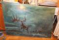 Старинная огромная картина С оленем, Сиверский