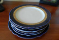 Фарфор сервиз лфз кобальт тарелки 7 шт