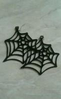Серьги паутинки Halloween новые