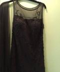 Вечернее платье, платье лав репаблик черное с кружевом и сеткой