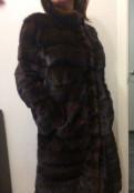 Одежда apple в калифорнии, норковая поперечная шуба 42-44