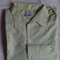 Черный пуховик с воротником из натурального меха barbuda, мужская рубашка, р-р 41, х/б
