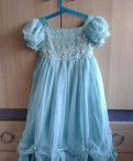 Платье нежно-голубое