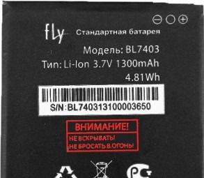 Аккумулятор Fly BL7403 для Fly IQ431 Glory